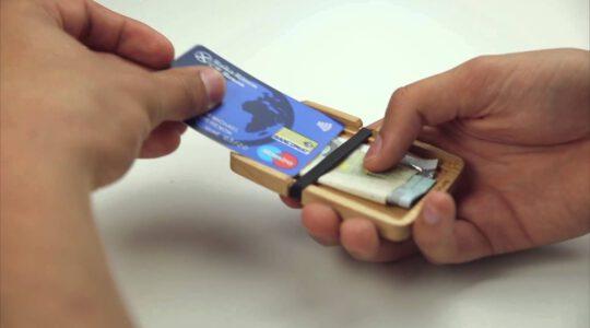 Minimalist Designer Wallet Made of Wood